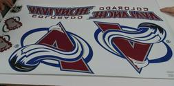 """NHL Colorado Avalanche Car Decals Medium 49"""" x 25"""" Sheet Ski"""