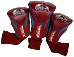 NHL Colorado Avalanche 3-Pack Contour Fit Headcovers - Burgu