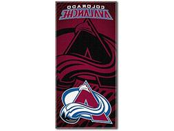 NHL Colorado Avalanche Emblem Beach Towel, 28 x 58-inches