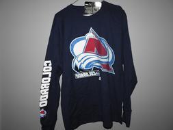NHL Majestic Colorado Avalanche Long Sleeve Hockey Shirt New
