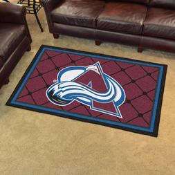 FANMATS NHL Colorado Avalanche Nylon Face 4X6 Plush Rug
