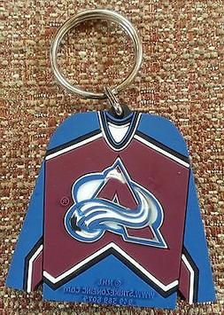 NHL COLORADO AVALANCHE Rubber 2-Sided RUBBER Key Ring