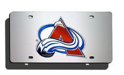 NHL Colorado Avalanche Laser Cut Auto Tag, Silver