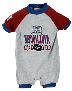 NHL Infant Colorado Avalanche Baby Short Sleeve Goalie Rompe