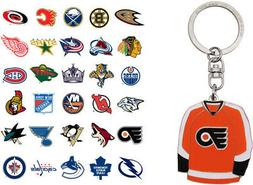 nhl jersey keychain choose your team