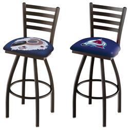 NHL-L014-Blk Wrinkle Colorado Avalanche Swivel Bar Stool wit
