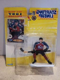 Sandis Ozolinsh Action Figure + Card Avalanche NHL 1997 Star