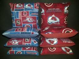 Set of 8 Colorado Avalanche hockey Cornhole Bags ***FREE SHI
