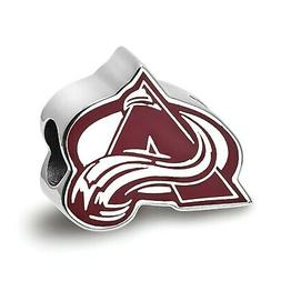sterling silver colorado avalanche w enameled extruded