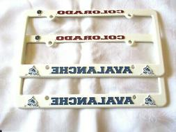 TWO  COLORADO AVALANCHE EMBOSSED LICENSE PLATE FRAMES #6 - N